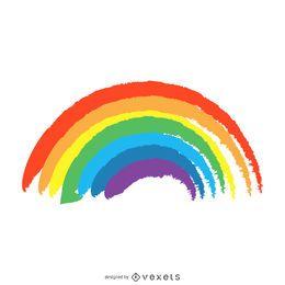 Isolierte Hand gezeichneten Regenbogen