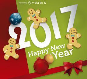 2017 pan de jengibre año nuevo