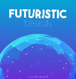 Diseño futurista de fondo de malla