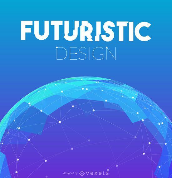 Fundo de design de malha futurista