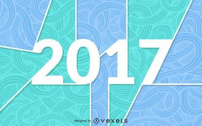 Sinal de formas decorativas de 2017