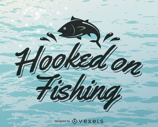 Fishing label logo template