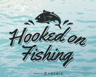 Plantilla de logotipo de etiqueta de pesca