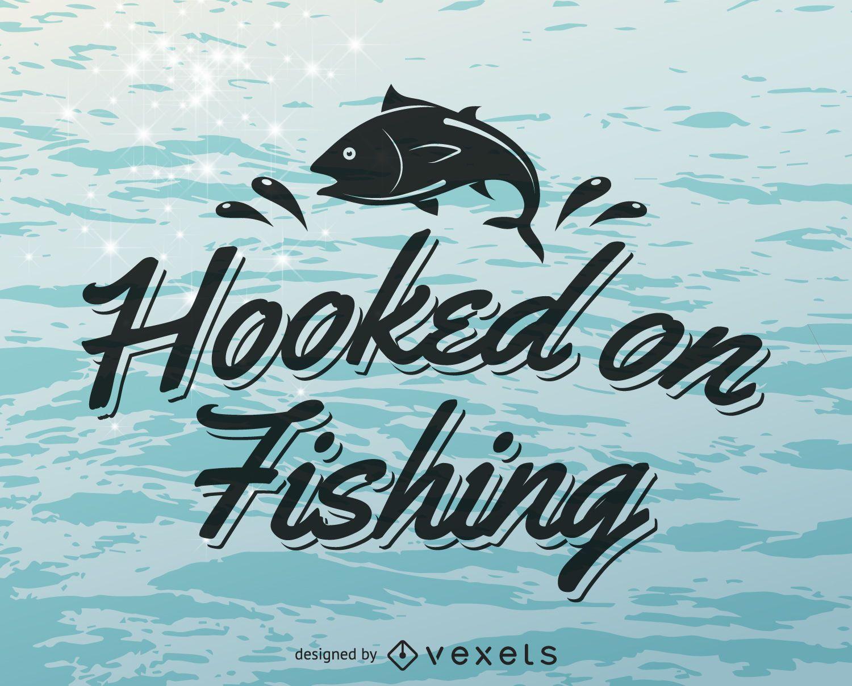 Modelo de logotipo de etiqueta de pesca