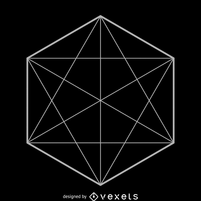 hexagon sacred geometry illustration