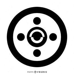 Diseño abstracto simple del círculo de la cosecha