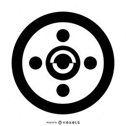 Einfaches abstraktes Getreide-Kreis-Design