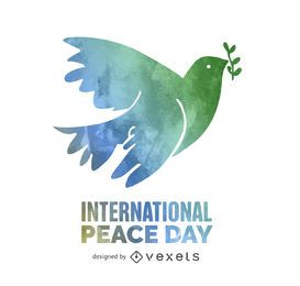 Dia de la paz de acuarela