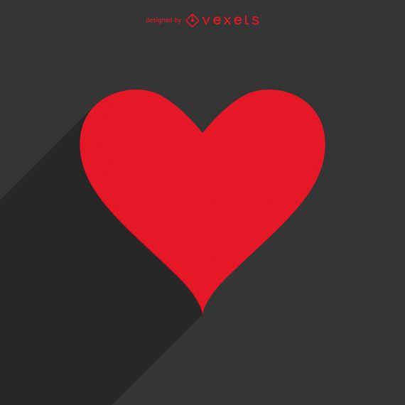 Plantilla de logotipo de larga sombra de corazón
