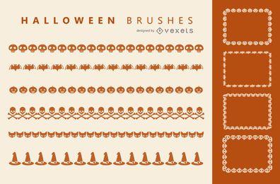 Conjunto de pincéis de ilustrador de Halloween