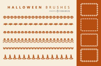 Halloween Illustrator brushes set