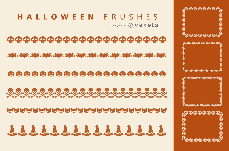 Halloween Illustrator brushes set
