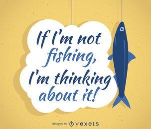 design das citações da pesca poster