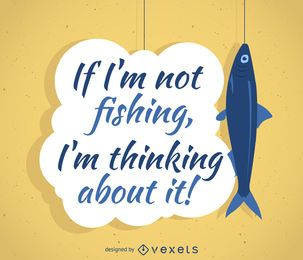diseño de la pesca cartel de la cita