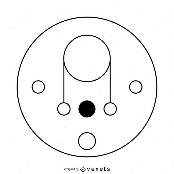 Thin line crop circle illustration