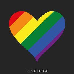 Modelo de logotipo de coração de orgulho LGBT