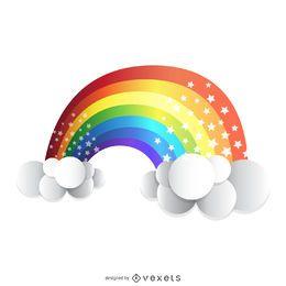 arco iris aislados 3D