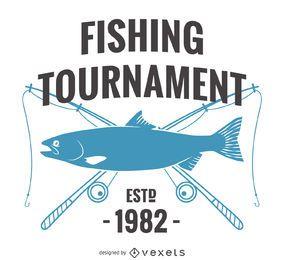 Señal de pesca retro