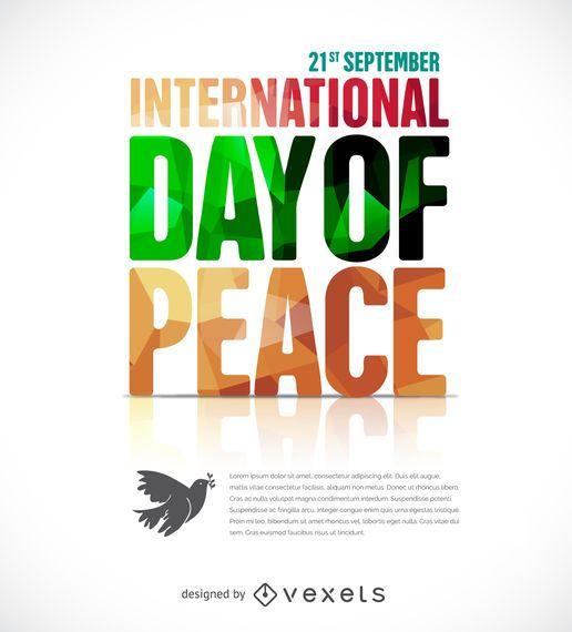 Cartel del día de la paz