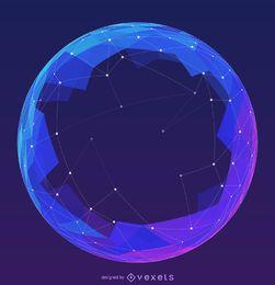 Esfera de malla futurista
