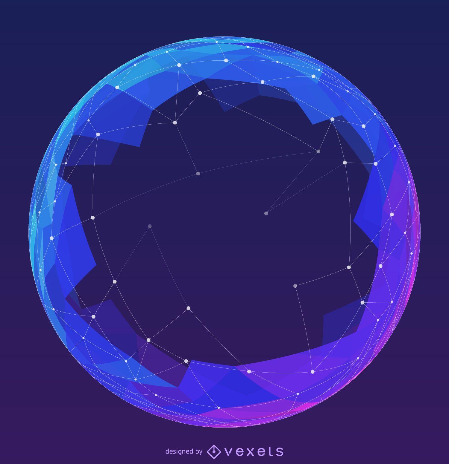 Futuristic mesh sphere