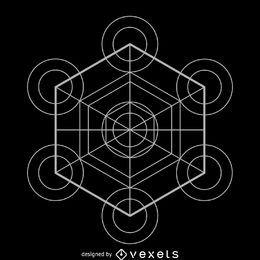 Geometría sagrada del cubo de metatrón.