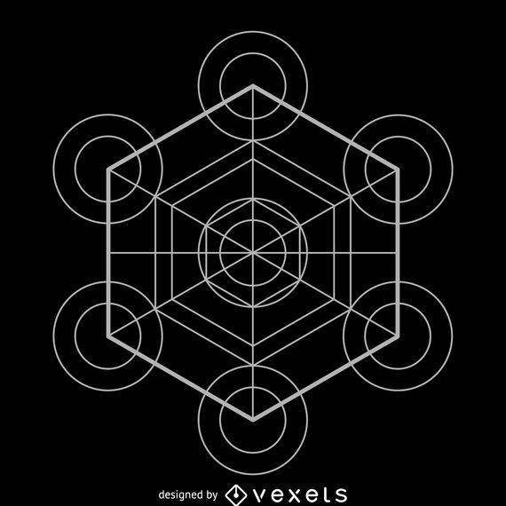 Metatron's cube sacred geometry