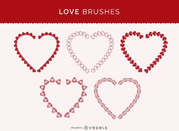 Illustrator love brushes set