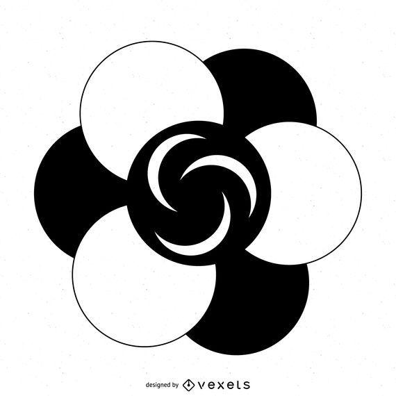 Flower crop circle drawing
