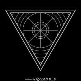 Triángulo abstracto geometría sagrada