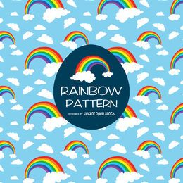 Bright rainbow illustration pattern
