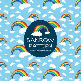 Patrón de ilustración de arco iris brillante