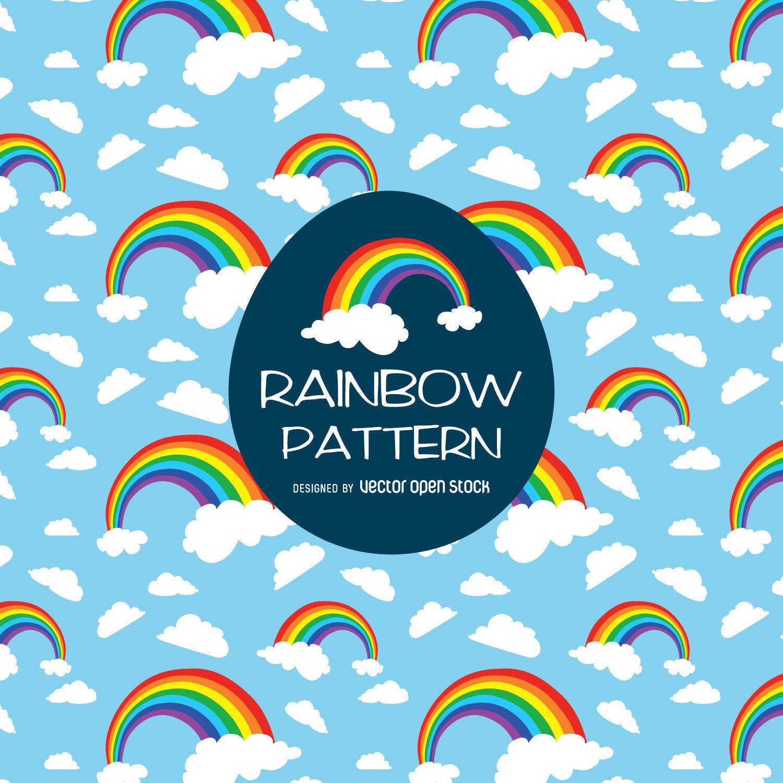 Bright rainbow illustration pattern