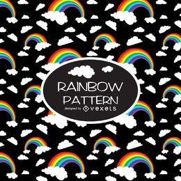 Patrón de ilustración de arco iris de contraste