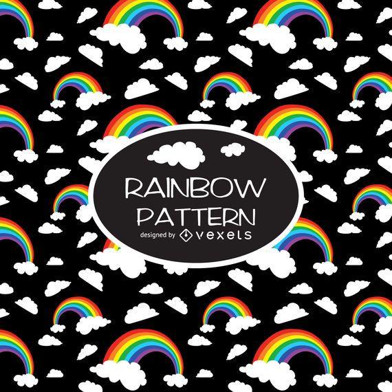 Kontrast-Regenbogen-Illustrationsmuster