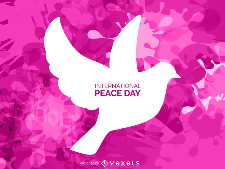 Dove silhouette sinal do dia da paz