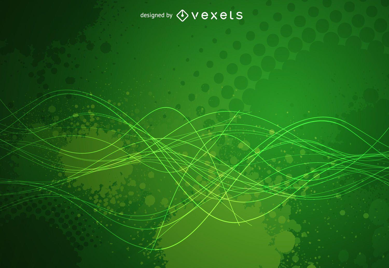 Fondo Verde Del Grunge Descargar Vector