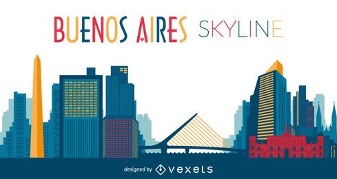 Buenos Aires skyline illustration