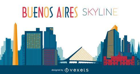 Ilustração do skyline de Buenos Aires