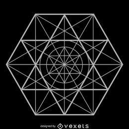 Geometria sagrada complexa abstrata