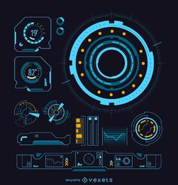 Interfaz futurista de ciencia ficción.
