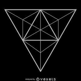 Diseño de geometría sagrada de triángulo