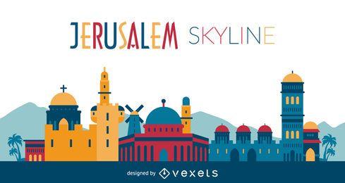 ilustração skyline Jesuralem