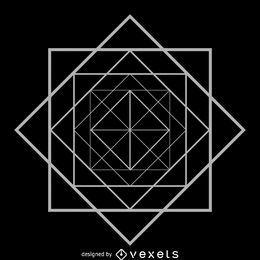 Geometria sagrada quadrada de losango