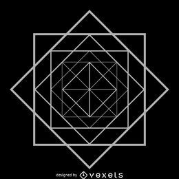 Rombo cuadrado geometría sagrada