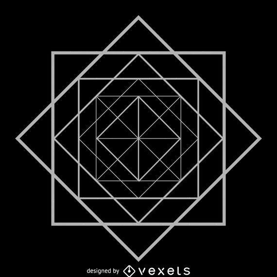 Rhombus square sacred geometry
