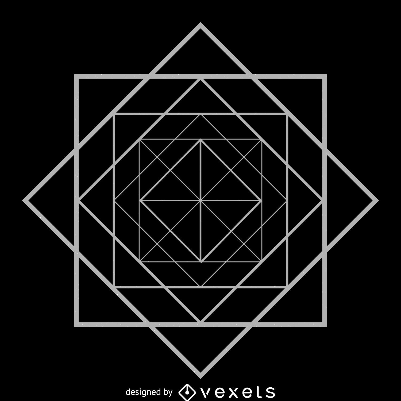 rhombus square sacred geometry vector download