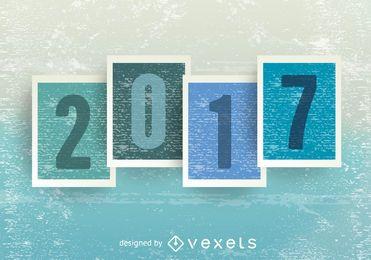 Grunge blaues Grün 2017 Zeichen