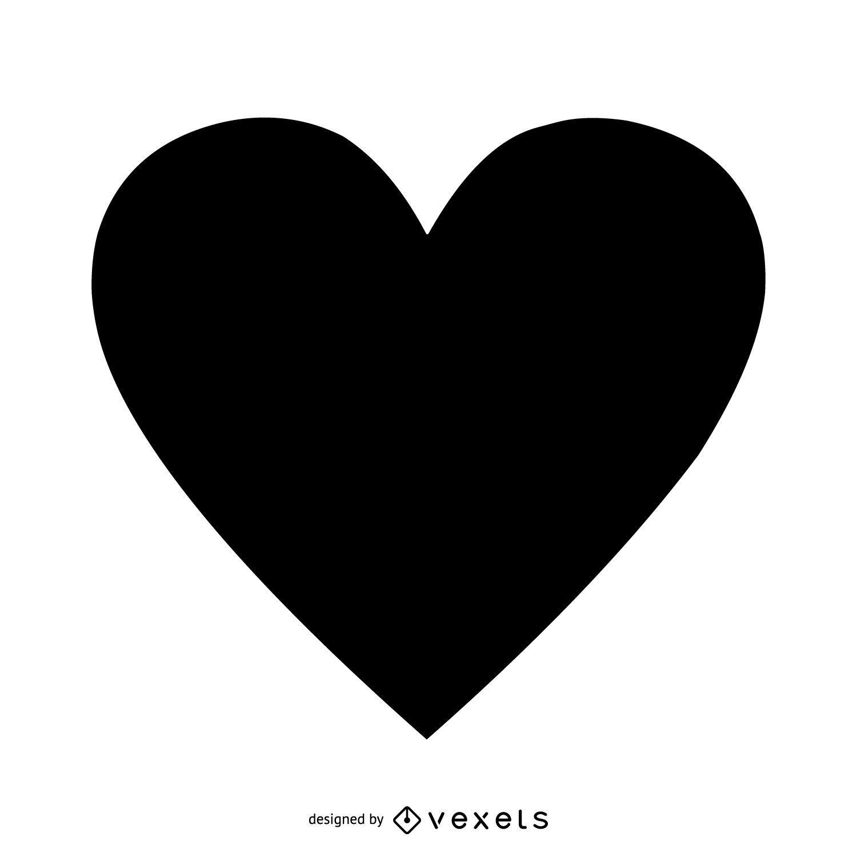 Coração preto isolado