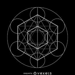 Metatron's cube sacred geometry design